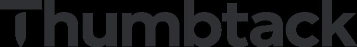 Thumbtack Logo black