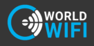 World Wi Fi Logo black background