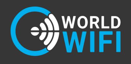 World Wi Fi Logo black background