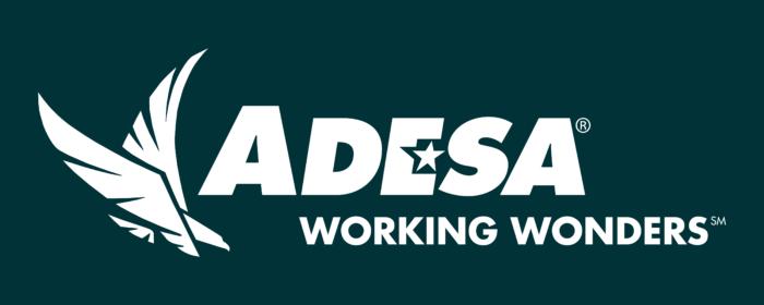 ADESA Logo white text