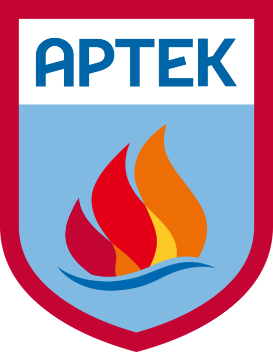 Artek Logo blue background