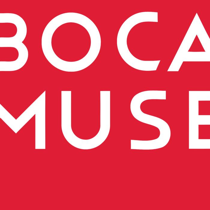 Boca Raton Museum of Art Logo white text