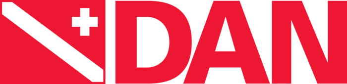 Divers Alert Network Logo red text