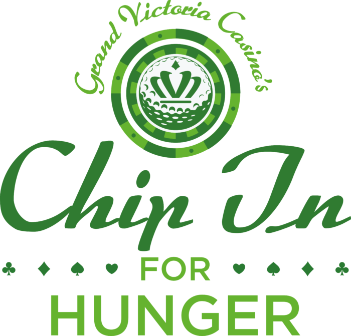 Grand Victoria Casino Chip In for Hunger Logo