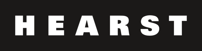 Hearst Corporation Logo white text