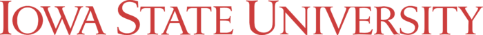 Iowa State University Logo red text