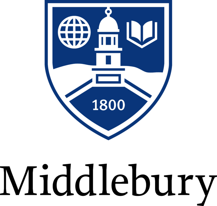 Middlebury College Logo vertically