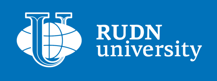 Peoples' Friendship University of Russia Logo blue