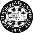 Portland State University Logo black