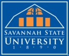 Savannah State University Logo blue