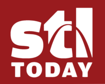 St. Louis Post Dispatch Logo white text