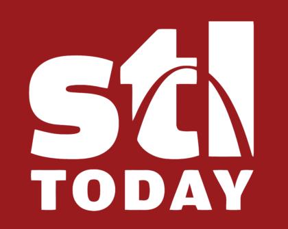 St. Louis Post Dispatch Logo white text