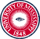 University of Mississippi Logo white text