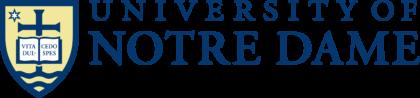 University of Notre Dame Logo horizonally