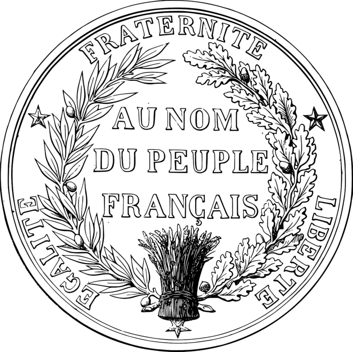 Great Seal of France reverse