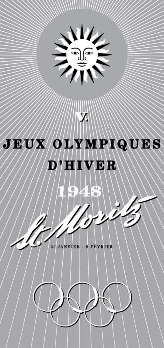 St. Moritz 1948 Winter Olympics Logo